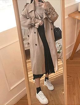 Daily slim fit Barbary trench coat jacket for short girls who exceed 4,000
