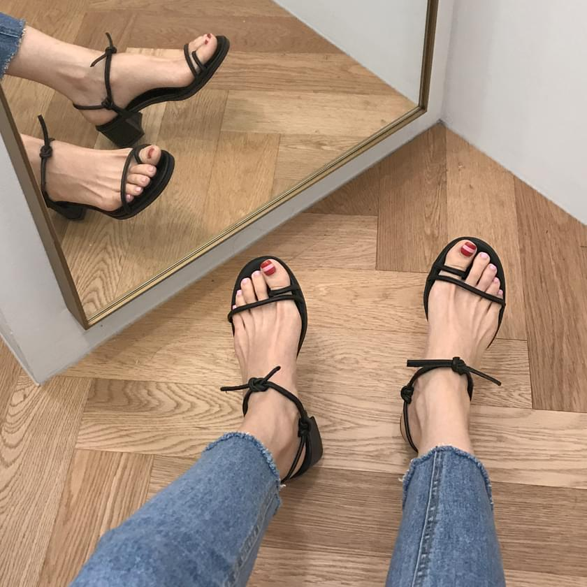 Lilico split-strap sandal heel