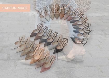 Twilly stiletto slingback heel