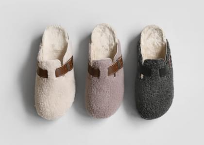 Tori fur-lined slippers