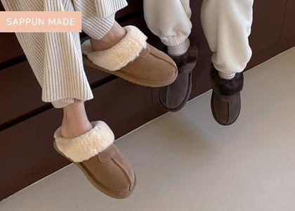 Gentry Genuine Leather Ugg Slippers