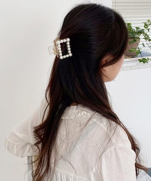 pearl square hair pin