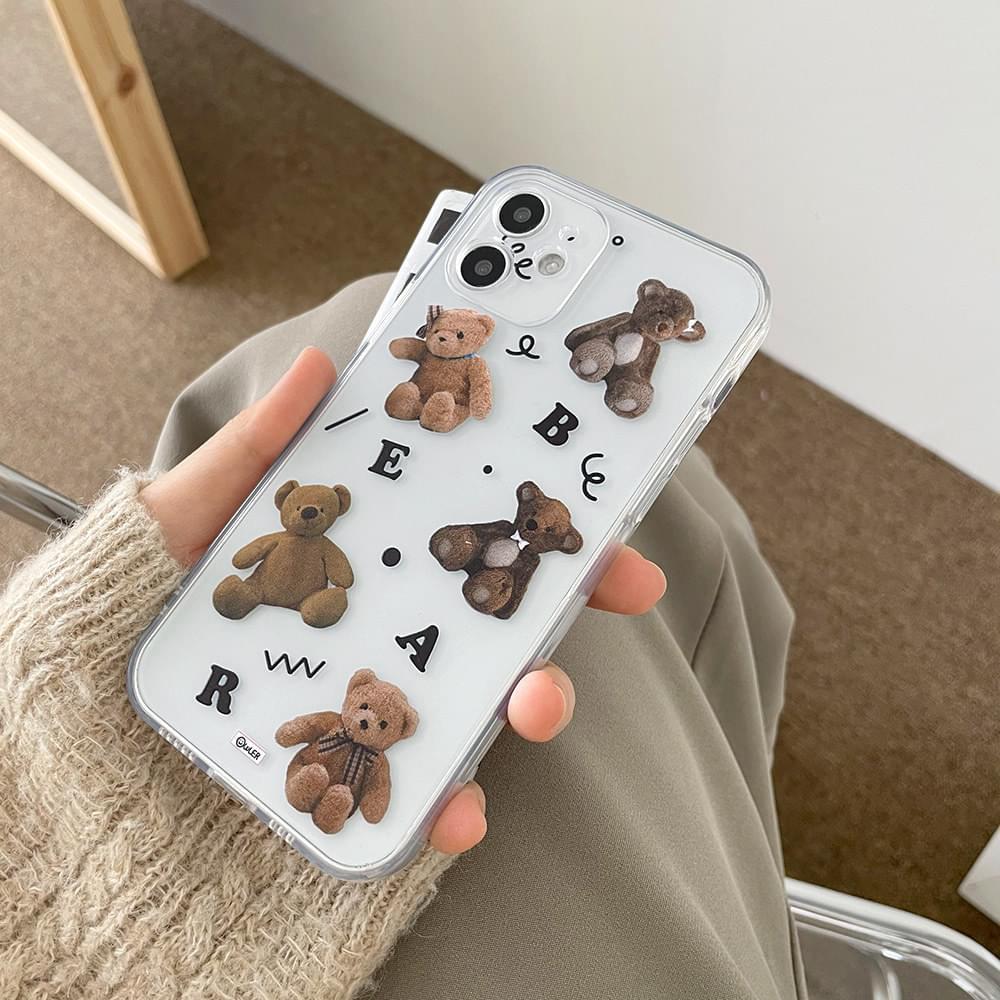Alphabet Bear Full Cover iPhone Case