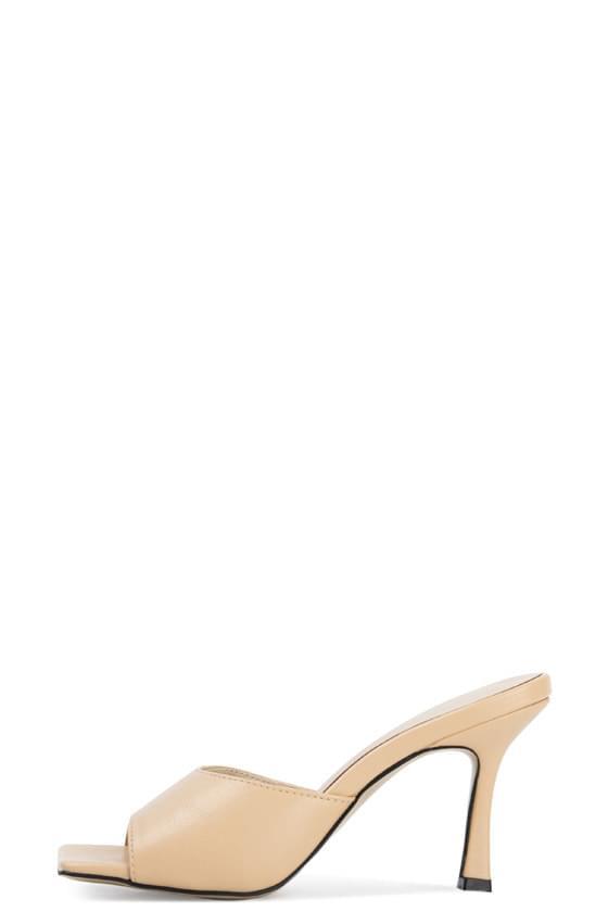 韓國空運 - Loa square high heel sandals 涼鞋