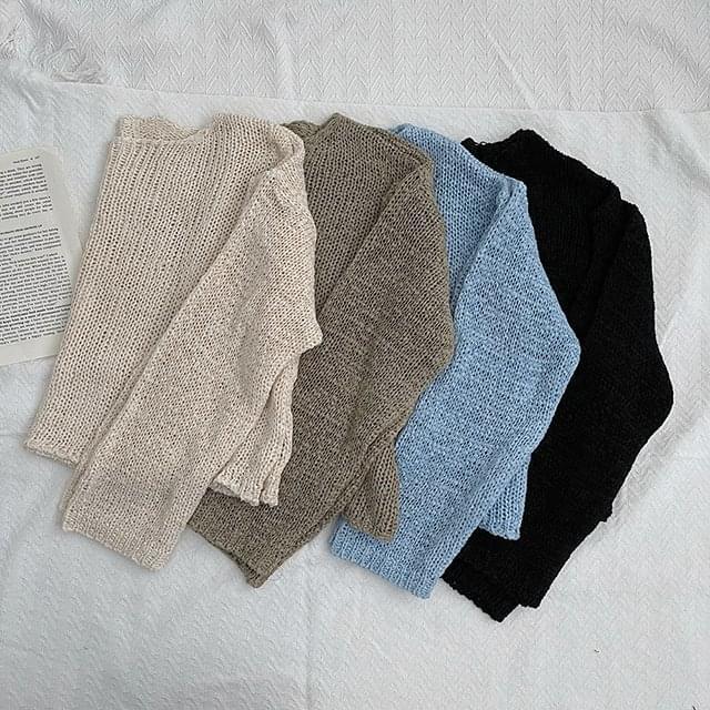 Tape Crop Net Knitwear