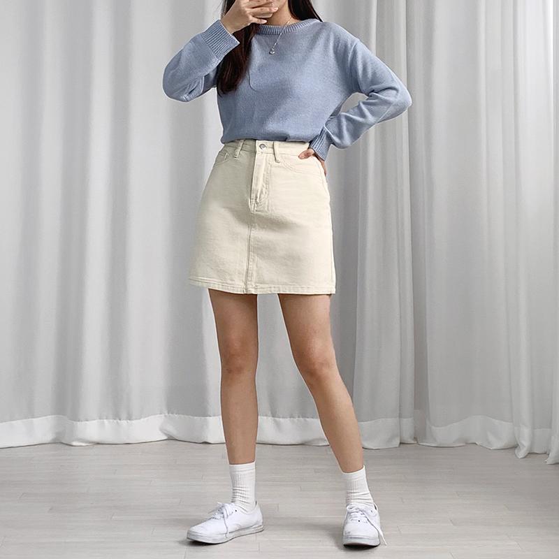 미니 스커트 모델 착용 이미지-S1L18