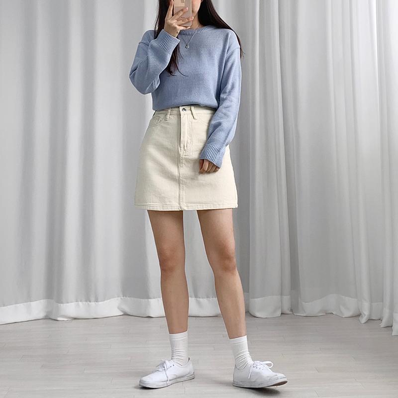 미니 스커트 모델 착용 이미지-S1L17