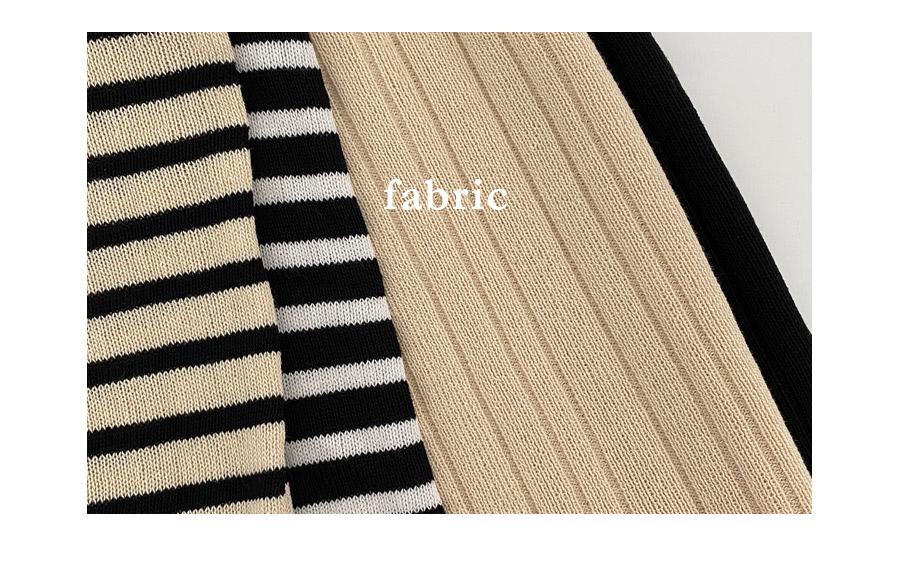 Haku Striped Knitwear + Pants Two Piece Set