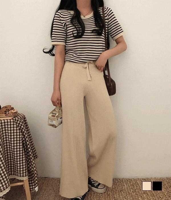 Haku Striped Knitwear + Pants Two Piece Set (Delayed delivery)
