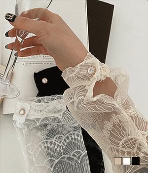 Blissé wavy lace blouse
