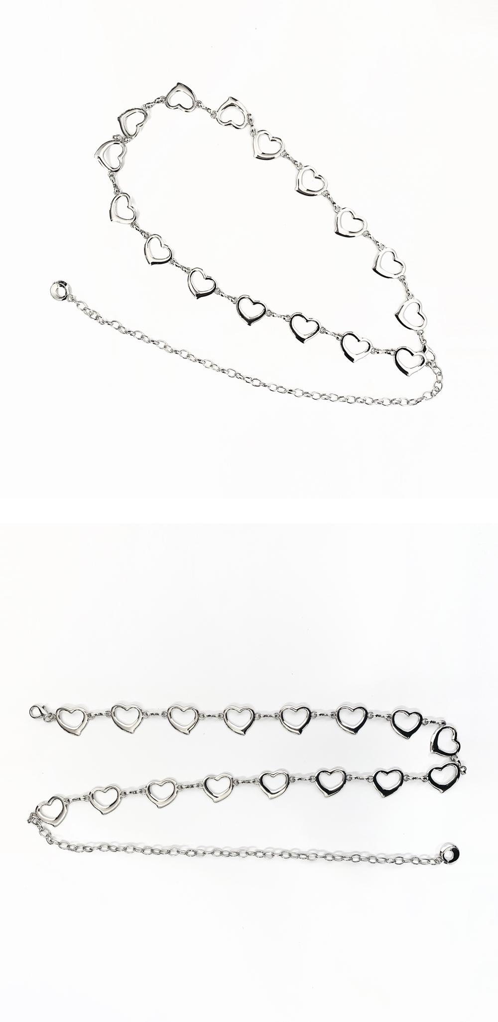 Lovebin heart chain belt