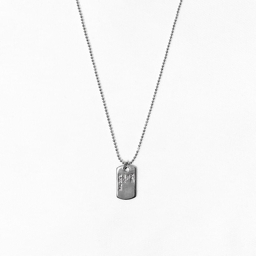 Number lettering chain necklace