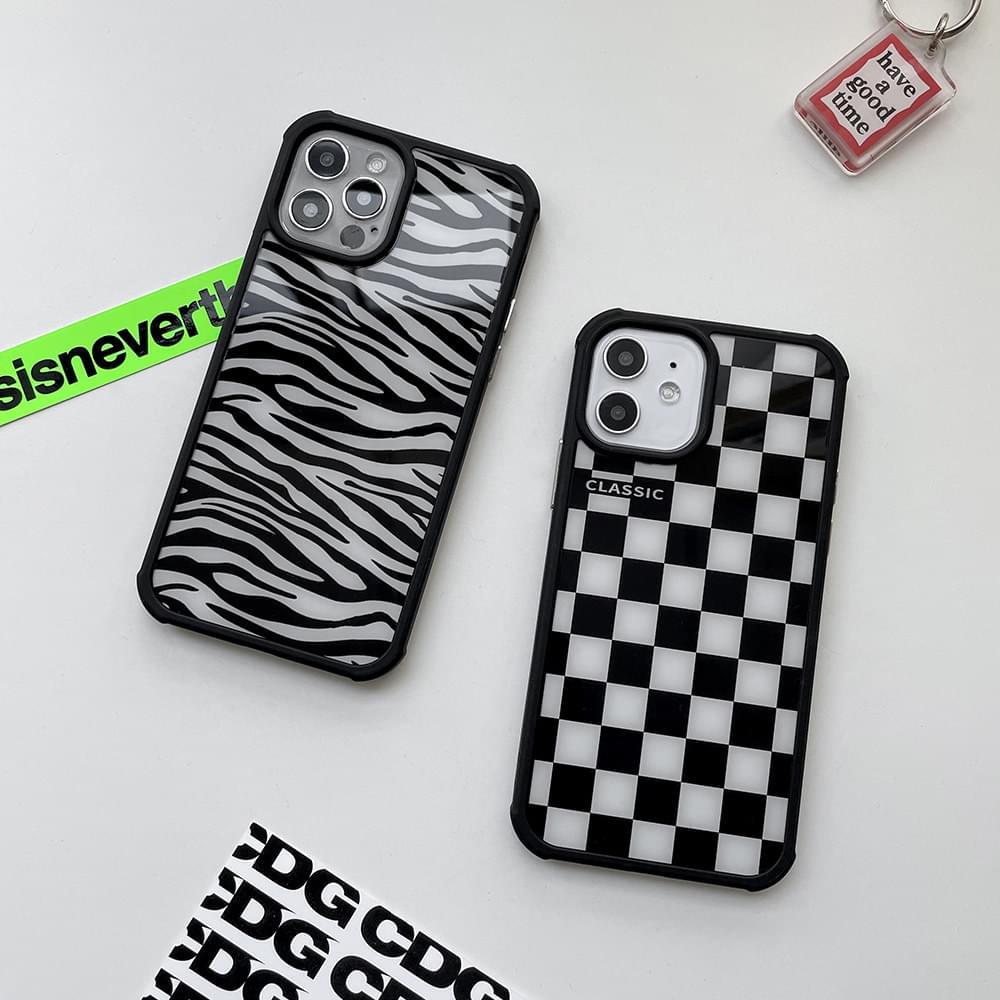 Checkerboard Zebra Bumper iPhone Case