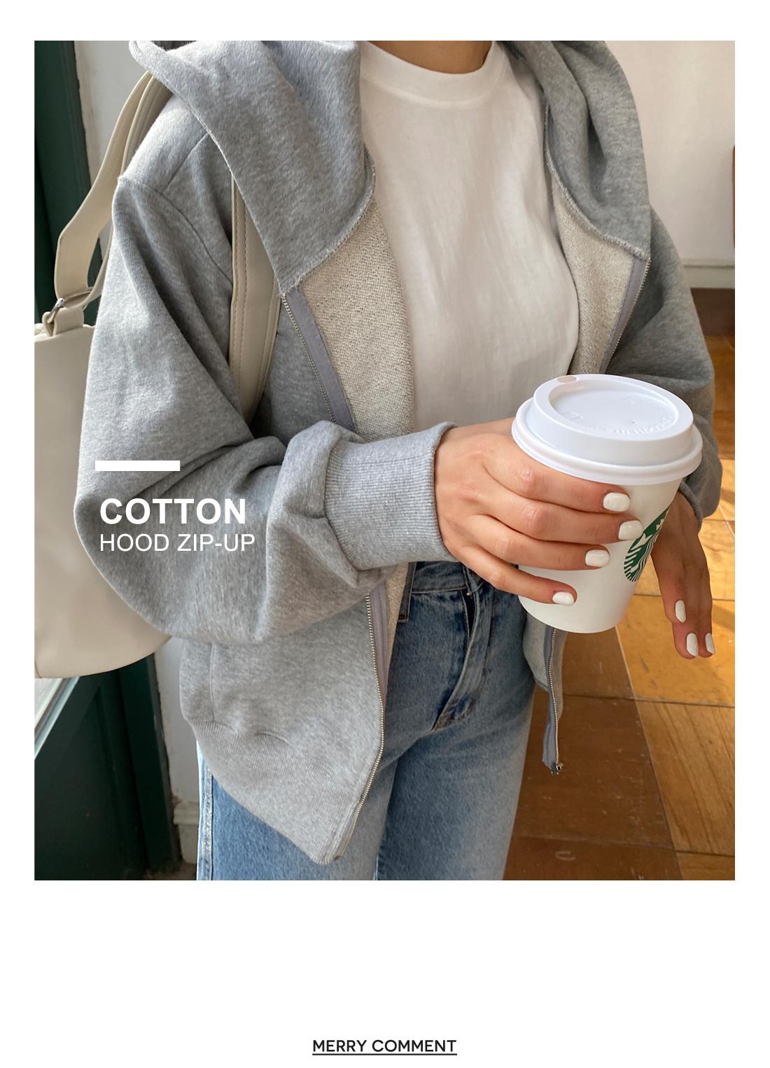 Pastel cropped zip-up hood
