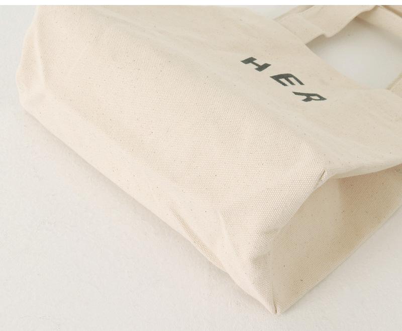 Lettering Canvas Mini Tote Bag