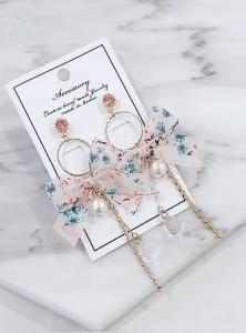 Alize flower ribbon earrings
