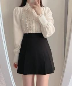 Yellow lace blouse 2color