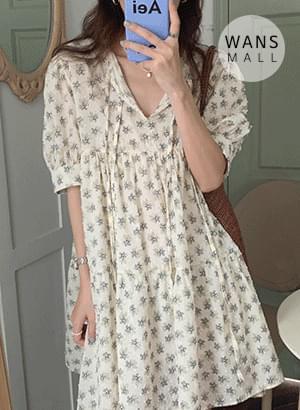 op4123 Perfume Flower Mini Dress