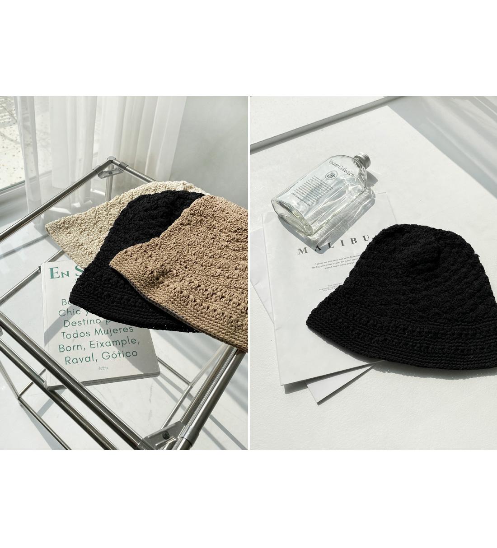Knit Cotton Bucket Hat