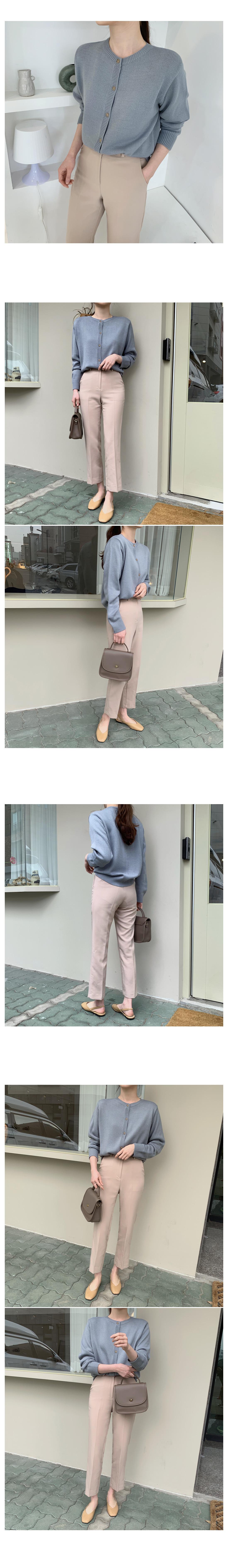 Melody Basic Knitwear Cardigan-Yellow Same Day Shipping