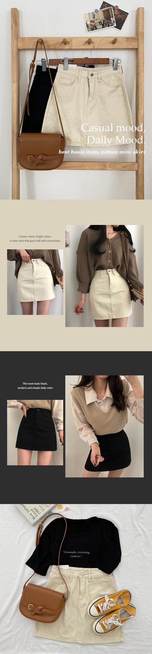 Basic Gangtem, Cotton Mini Skirt