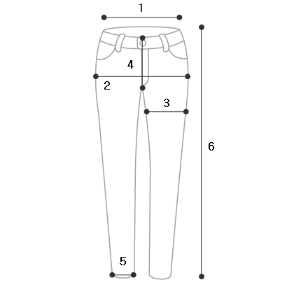Lot gradient denim trousers