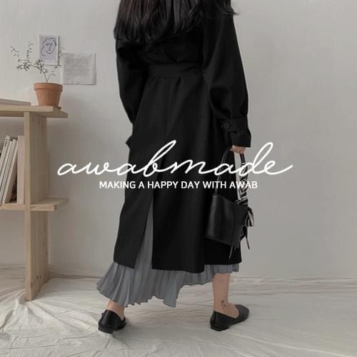 Key Little Girl Coat #AWABMADE:_ Spring Flow Single Trench Coat
