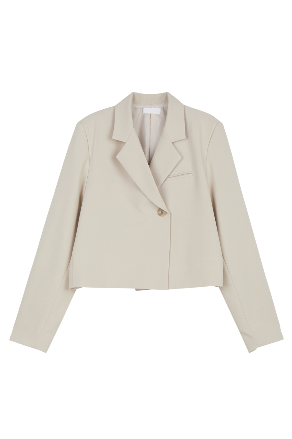 Layered one-button blazer