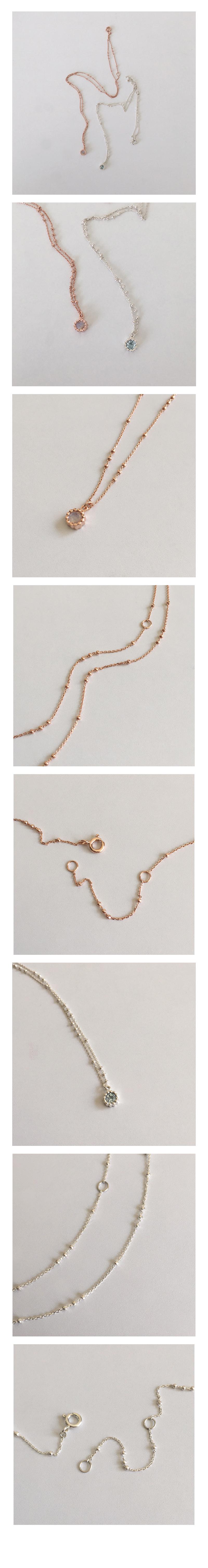 round gemstone necklace