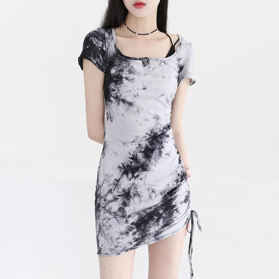Tie-dye one-string Dress
