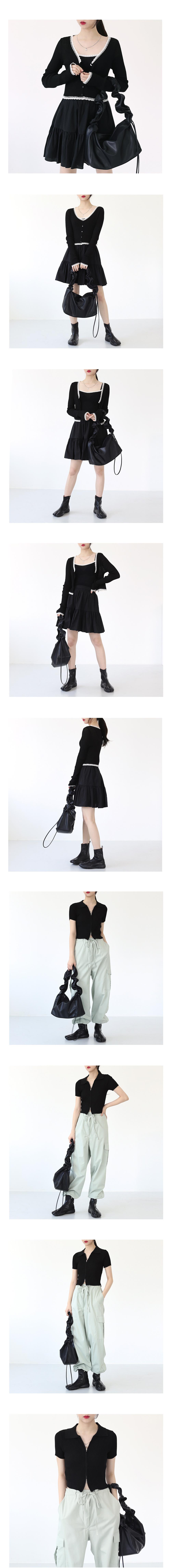 Hoa Shirring Shoulder Bag