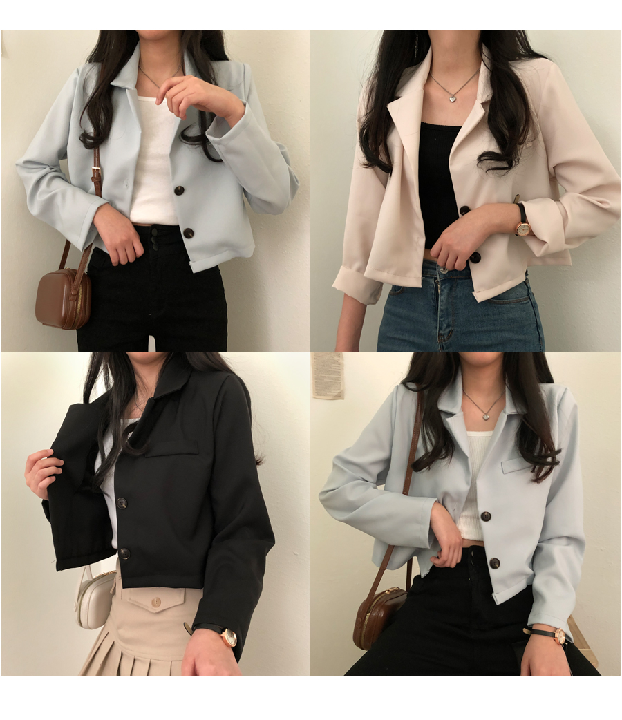 P-eye cropped jacket that is easy to wear