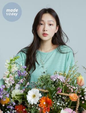 韓國空運 - Blooming Loose-fit linen tea 長袖上衣