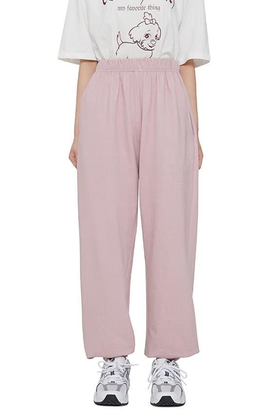 Candy pigment jogger trousers