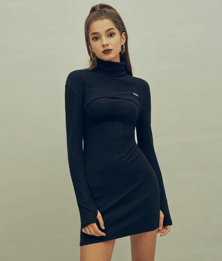 HIDE Two-Piece Dress 及膝洋裝