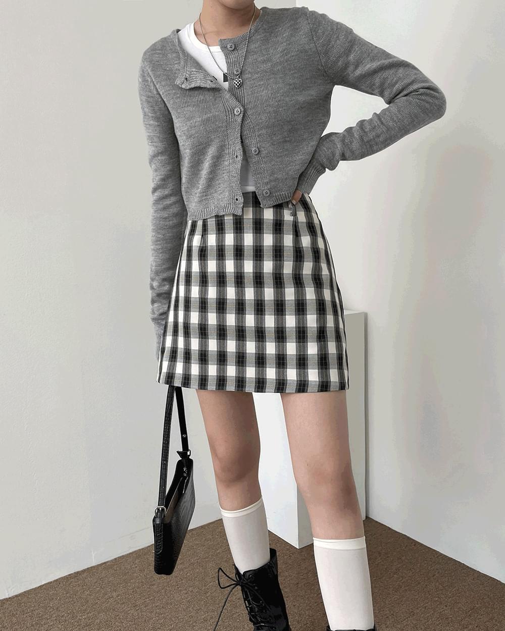 School Teen Check Mini Skirt