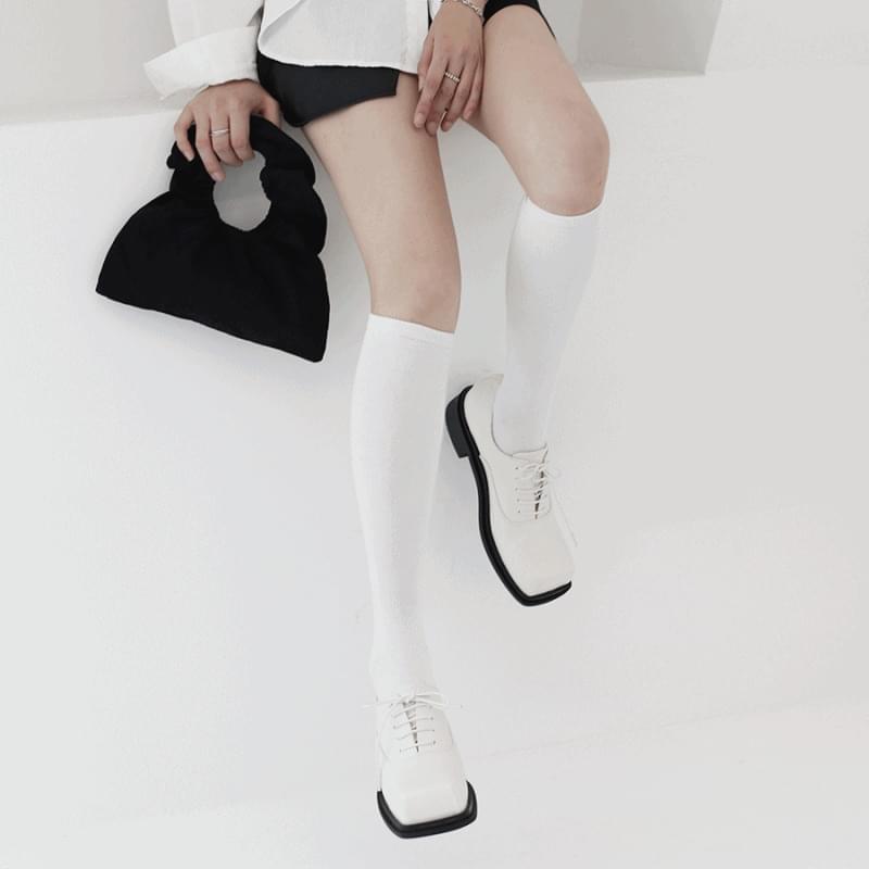 韓國空運 - Flat low square loafers 樂福鞋
