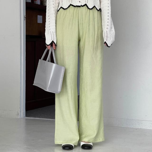 Miyu Soft Wrinkle Banding Pants