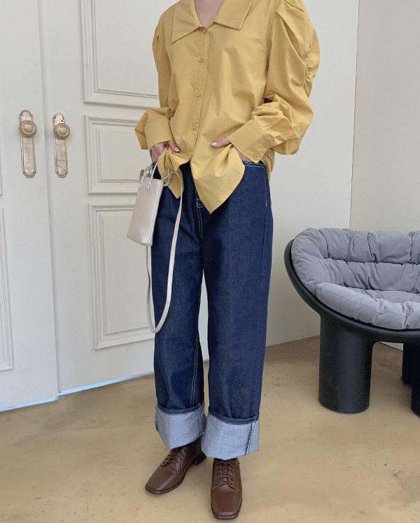 Dinew Raw Denim Wide Pants
