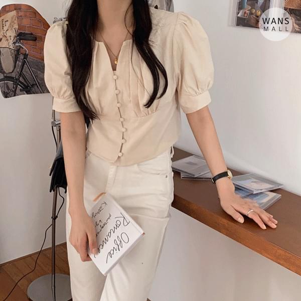 bl4184 sound button blouse