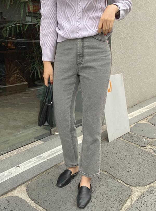 Gray line pants L