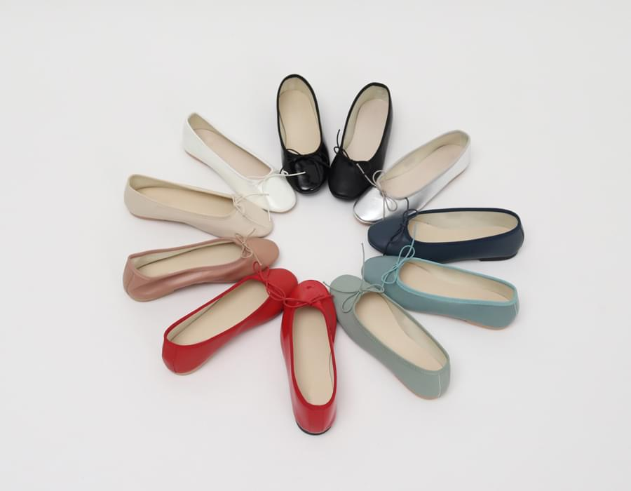 Multi ribbon flat shoes_S (size : 230,235,240,245,250)