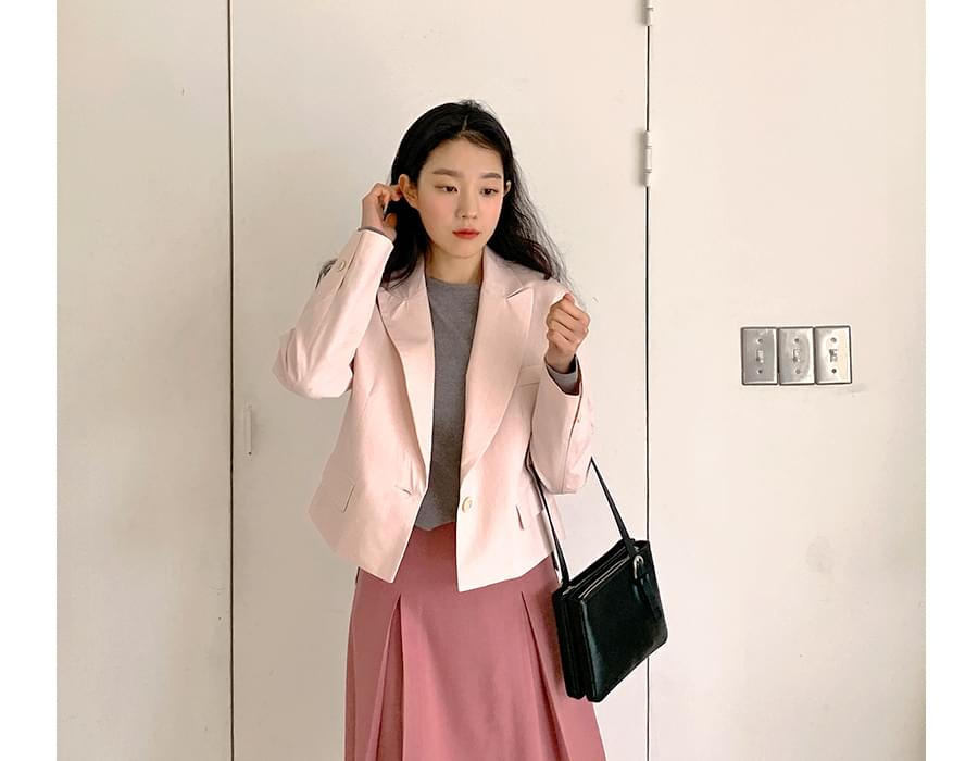 Cotton candy short jacket_J