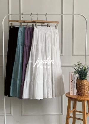 Juileen Wrinkle Kangkang Banding Long Skirt