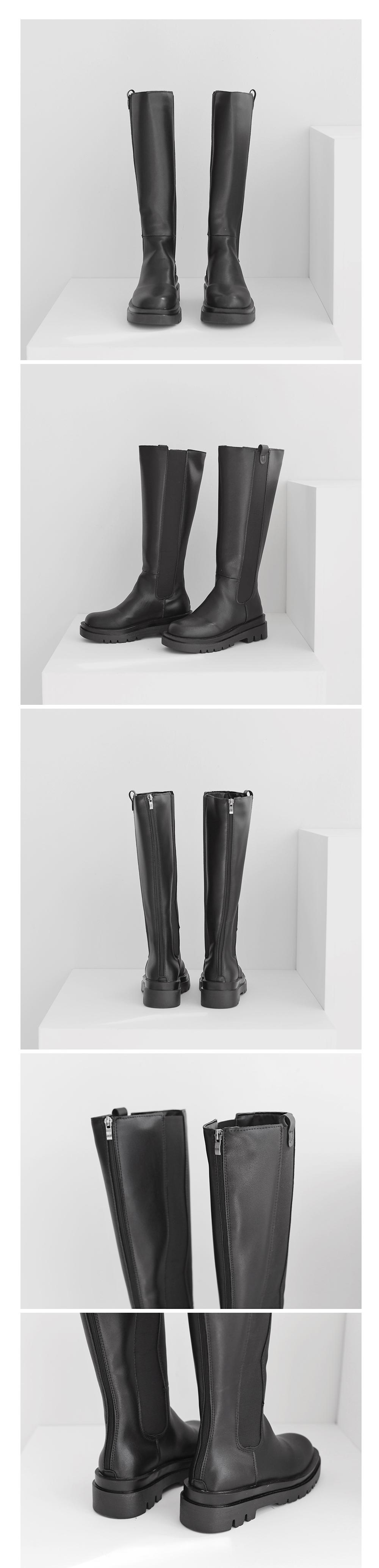 Stumpy Long Chelsea Boots