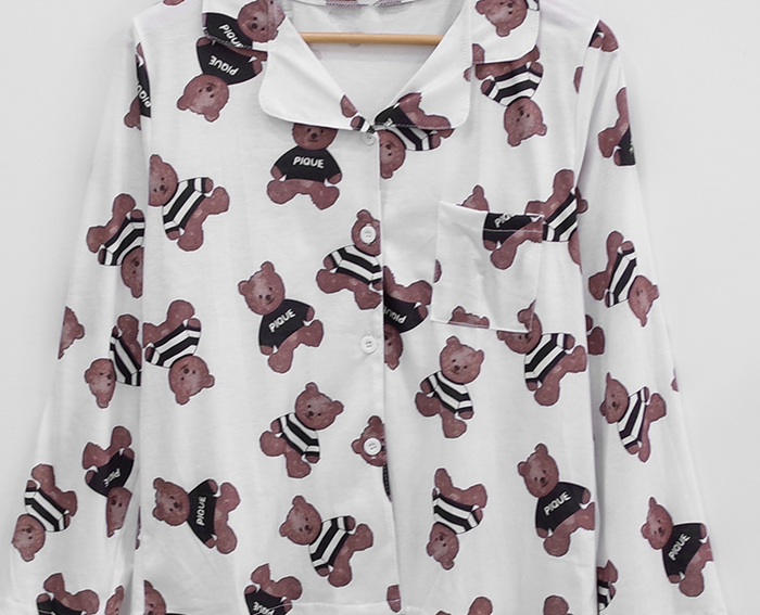Long Sleeved Black Bear Pajamas