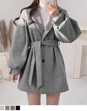 Sana waist strap short half coat