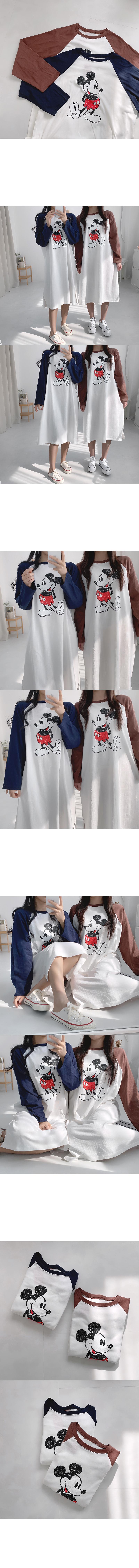 Mickey Color Nagrand Dress Pajamas Pajamas