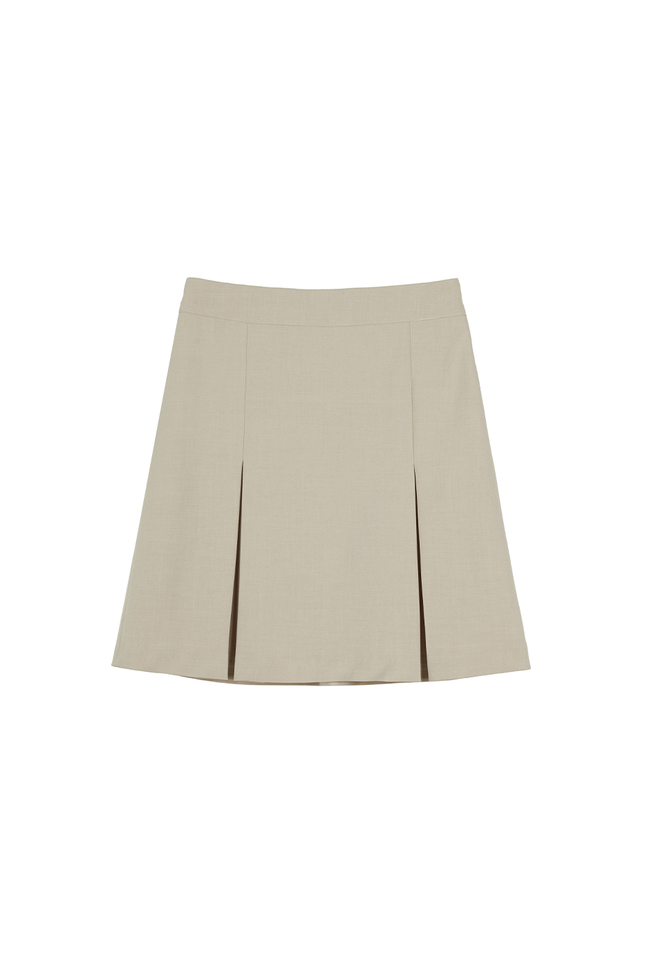 Plain pleated mini skirt