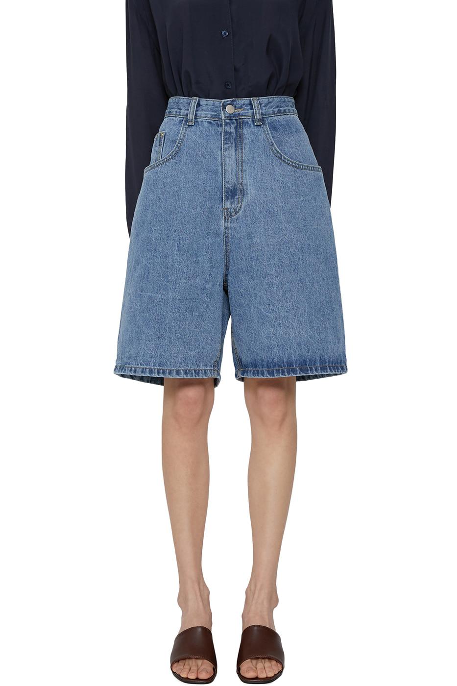 Day wide denim shorts
